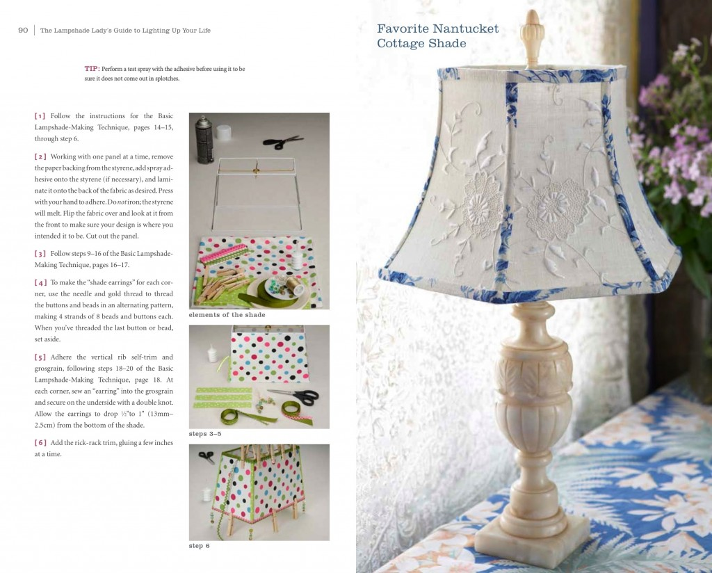 Dig through Grandma's Linens for your next lampshade project!